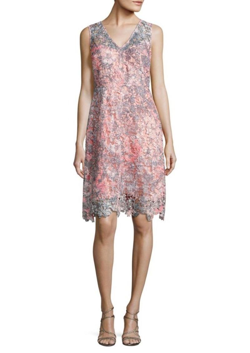 On Sale Today Elie Tahari Elie Tahari Elora Floral Lace Dress