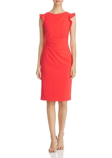 Elie Tahari Elsie Ruched Sheath Dress