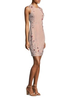 Elie Tahari Embellished Suede Dress