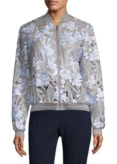 Elie Tahari Embroidered Floral Jacket
