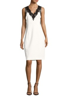 Elie Tahari Embroidered Lace Shift
