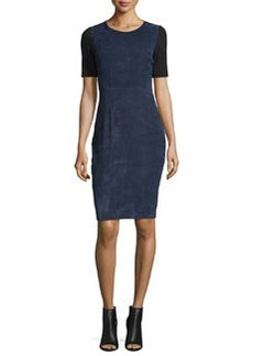 Elie Tahari Emily Colorblock Combo Sheath Dress