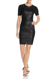 Elie Tahari Emily Mixed Media Sheath Dress