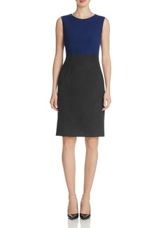 Elie Tahari Emory Color Block Sheath Dress