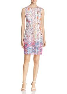 Elie Tahari Emory Floral Print Sheath Dress