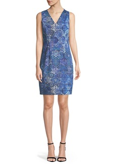 Elie Tahari Emory Graphic-Print Sleeveless Dress