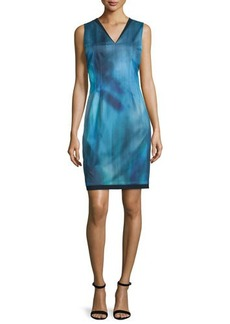 Elie Tahari Emory Sleeveless Printed Sheath Dress