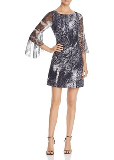 Elie Tahari Esmarella Animal-Print Mini Dress