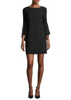 Elie Tahari Esmarella Bell-Sleeve Shift Dress