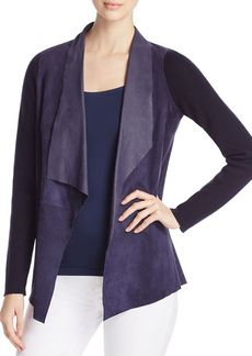Elie Tahari Esme Mixed Media Jacket