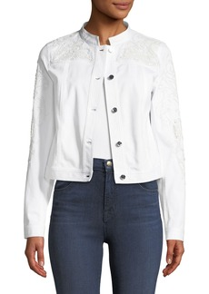 Elie Tahari Esperanza Embroidered Jacket