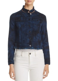 Elie Tahari Esperanza Lace-Back Denim Jacket