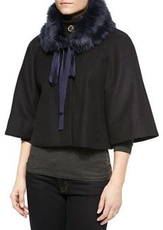 Elie Tahari Exclusive for Neiman Marcus Nadja Faux-Fur Swing Coat