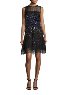 Elie Tahari Fatimah Embellished Silk Organza Dress