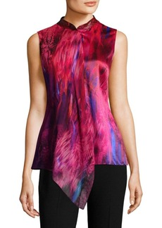 Elie Tahari Faya Electric Silk Blouse