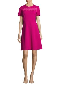 Elie Tahari Fayla Short Sleeve Dress