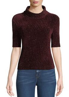 Elie Tahari Fitz Short-Sleeve Turtleneck Sweater