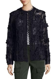 Elie Tahari Floral Applique Cardea Jacket