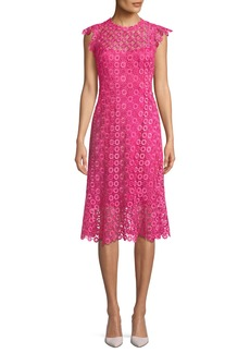 Elie Tahari Florance Geometric-Lace Dress