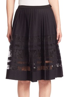 Elie Tahari Frances Pleated Skirt