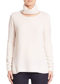 Elie Tahari Francesca Cashmere Cutout Turtleneck Sweater