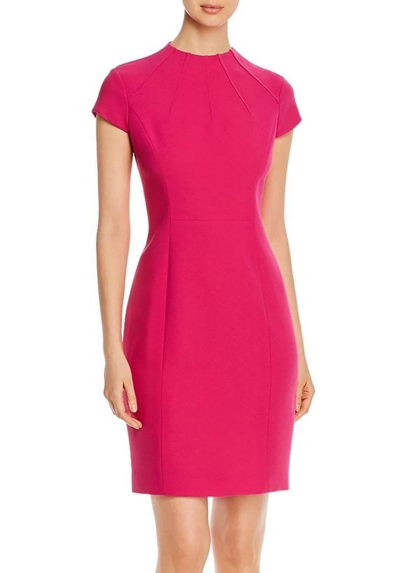 Elie Tahari Freida Cap-Sleeve Dress