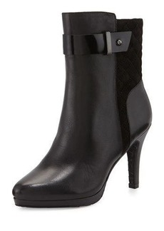 Elie Tahari Galina Quilted-Suede Leather Bootie