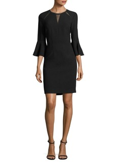 Elie Tahari Garcia Bell Sleeve Embellished Sheath Dress