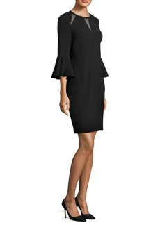 Elie Tahari Garcia Mesh-Trimmed Sheath Dress