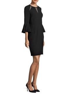Elie Tahari Garcia Mesh-Trimmed Sheath Dress