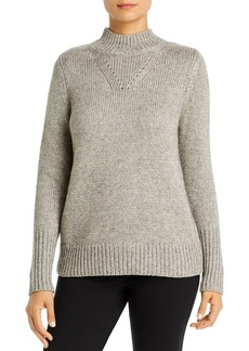 Elie Tahari Gemma Metallic Mock-Neck Sweater - 100% Exclusive
