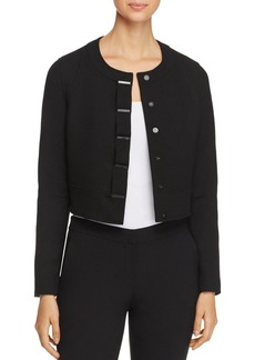 Elie Tahari Geneva Bar Snap Cropped Jacket