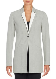 Elie Tahari Georgina One-Button Blazer