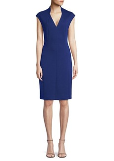 Elie Tahari Geraldine Plush Knit Shift Dress