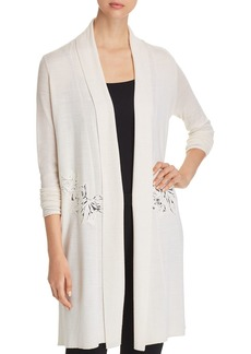 Elie Tahari Gharett Embroidered Duster Cardigan