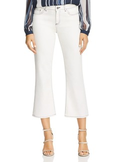 Elie Tahari Gianina Crop Flare Jeans in Parchment
