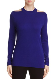 Elie Tahari Gina Cold Shoulder Merino Wool Sweater - 100% Exclusive