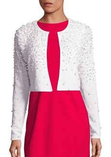 Elie Tahari Gisele Embellished Merino Wool Cardigan