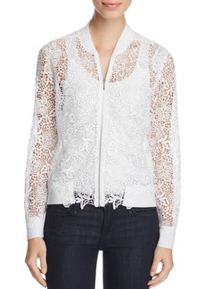 Elie Tahari Glenna Lace Bomber Jacket - 100% Exclusive