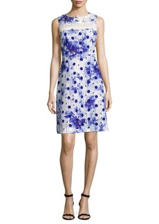 Elie Tahari Grace A-Line Cutout Dress