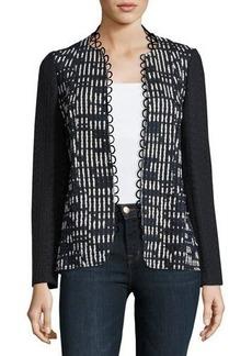 Elie Tahari Greer Lace-Trim Textured Jacket