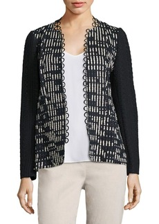 Elie Tahari Greer Textured Jacket