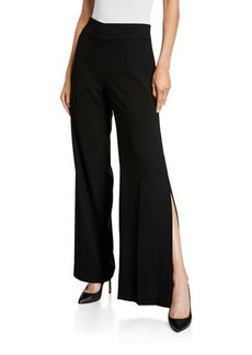 Elie Tahari Haidee Side-Slit Pants