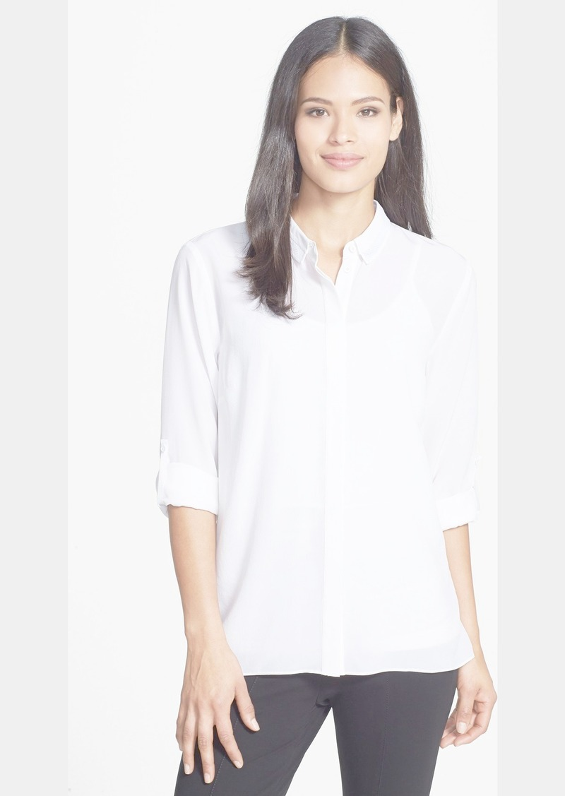 Elie Tahari 'Hayley' Pleat Back Silk Blouse