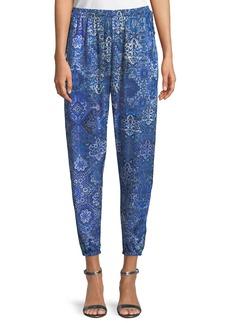 Elie Tahari Heather Graphic-Print Pull-On Pants
