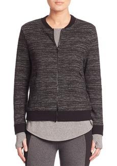 Heathered Zip-Front Jacket