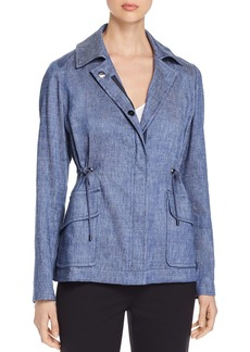 Elie Tahari Helga Lightweight Denim Zip Jacket