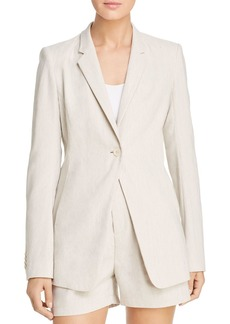 Elie Tahari Hillary One-Button Blazer