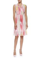 Elie Tahari Hillary Sleeveless Mesh Full-Skirt Dress