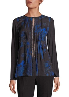 Elie Tahari Holly Silk Printed Blouse